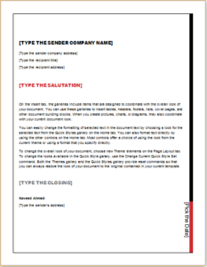 24 Business Letter Templates For Individuals Business Letter