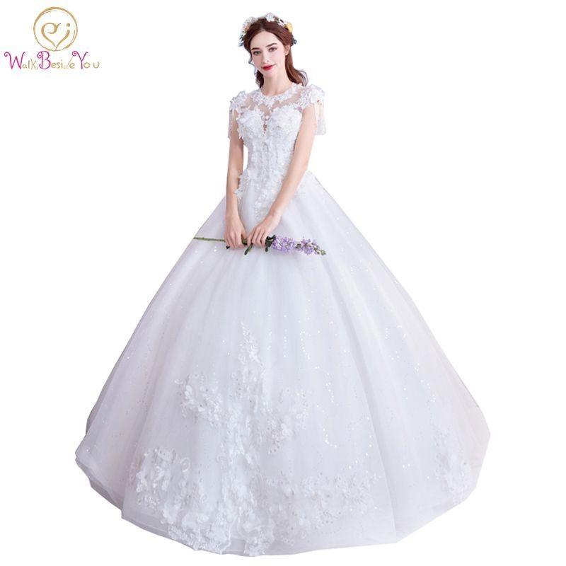 اعثر على المزيد من فساتين الزفاف المعلومات عن المشي بجانبك فاخر فساتين الزفاف الكرة ثوب O الزهور الخرز الرباط زين العروس أثوا Ball Gowns Dresses Formal Dresses