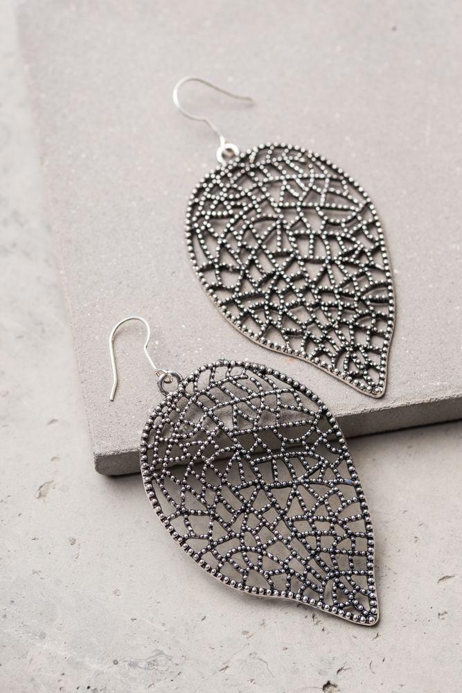 Joana-Silver; Lattice Leaf Earrings, $24.99 Buy fair trade and help restore hope for exploited women in Asia