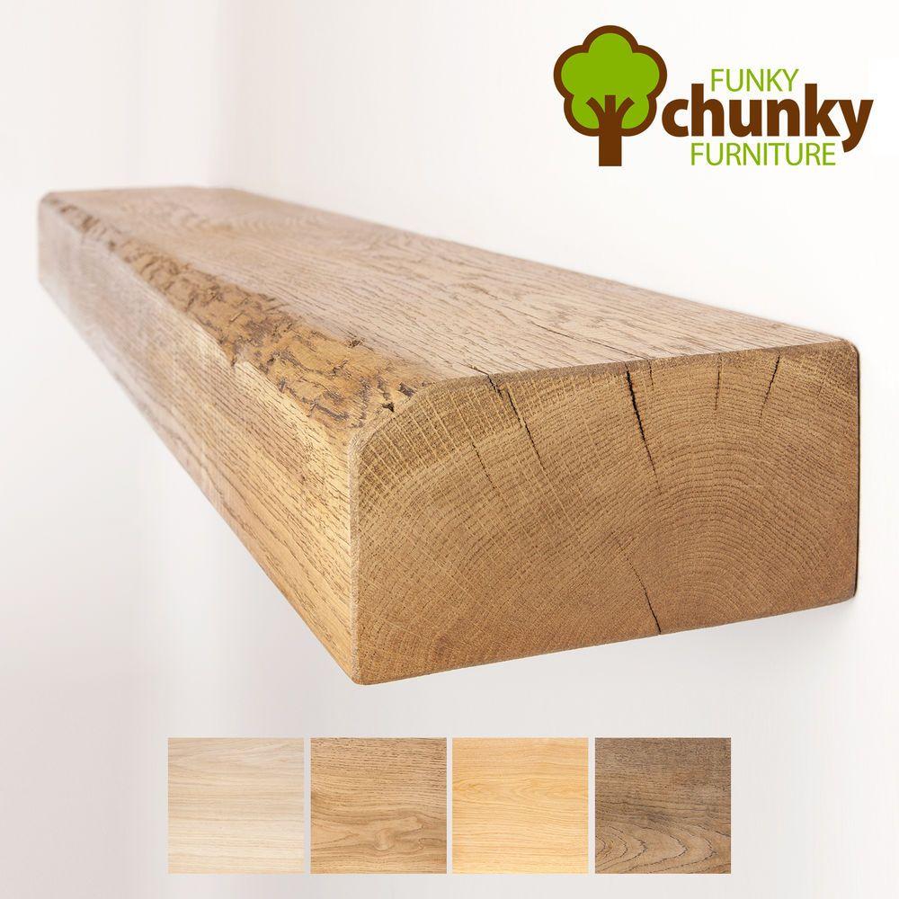 Details About 8x4 Solid Oak Floating Shelf Shelves Reclaimed Rustic Mantel Wood Oak Floating Shelves Wooden Floating Shelves Wood Shelves