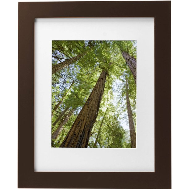 Mainstays Museum 11 X 14 Matted For 8 X 10 Solid Wood Picture Frame Mahogany Walmart Com Walmart Com