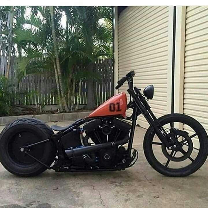 Man What A Cool Lookin Retro Style Harleydavidson Bobber Bobber Bikes Harley Bobber Custom Bobber
