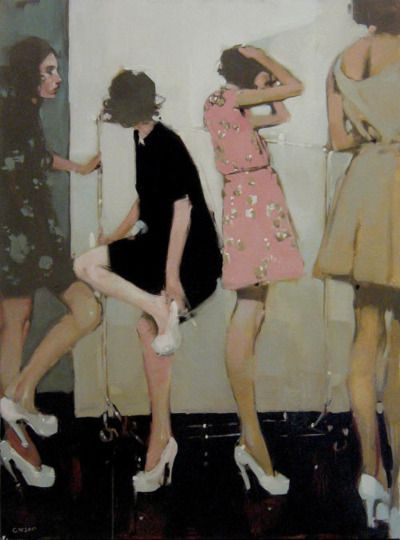 love the shoes and brush strokes Looks an awful lot like a Malcolm Liepke.