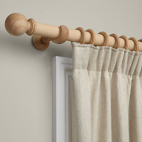 Buy John Lewis Curtain Pole Kit Unfinished Dia 35mm Online At