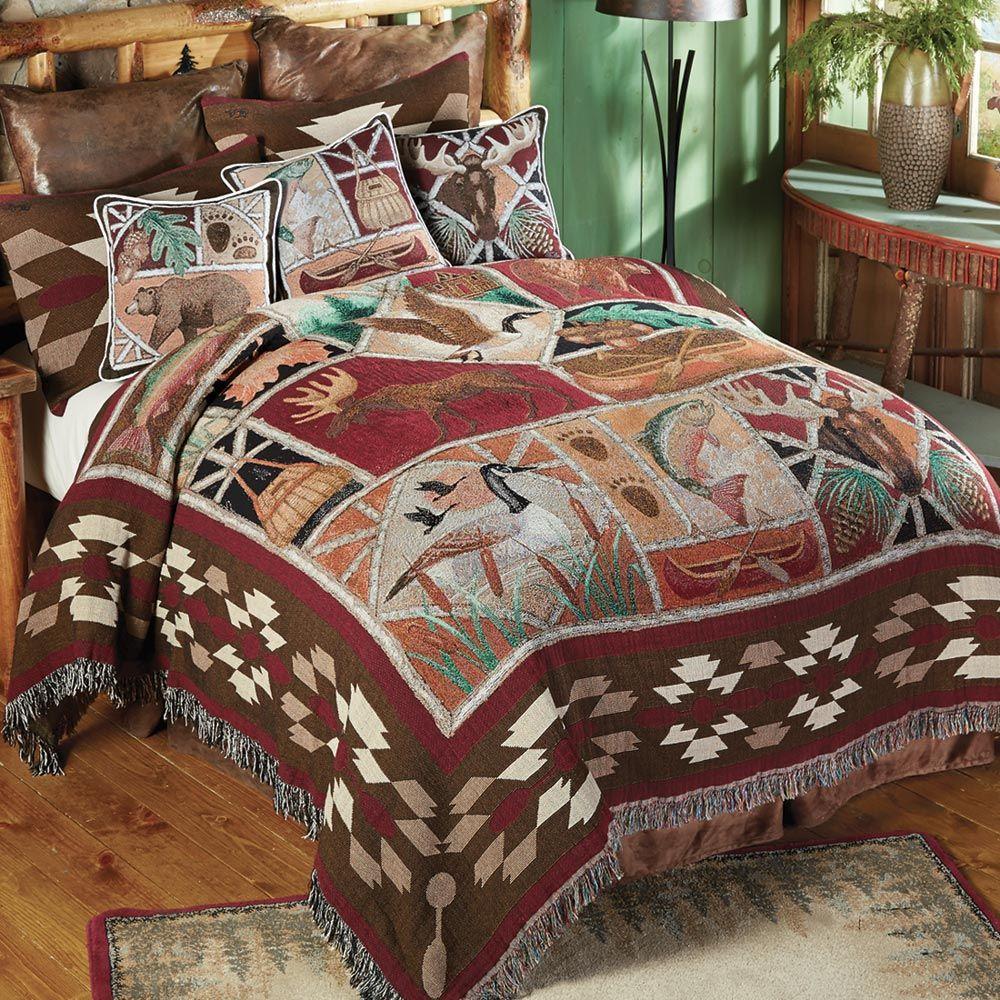 Best Wildlife Tapestry Coverlet Queen Clearance Bedroom 640 x 480