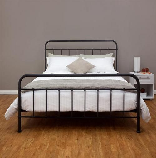 queen metal bed frame contemporary with image of queen metal plans free new on bedroom - Iron Bed Frame