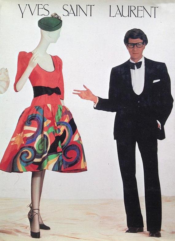 787729046b444 Yves Saint Laurent - Metropolitan Museum Of Art Book / 1983 YSL Hard ...