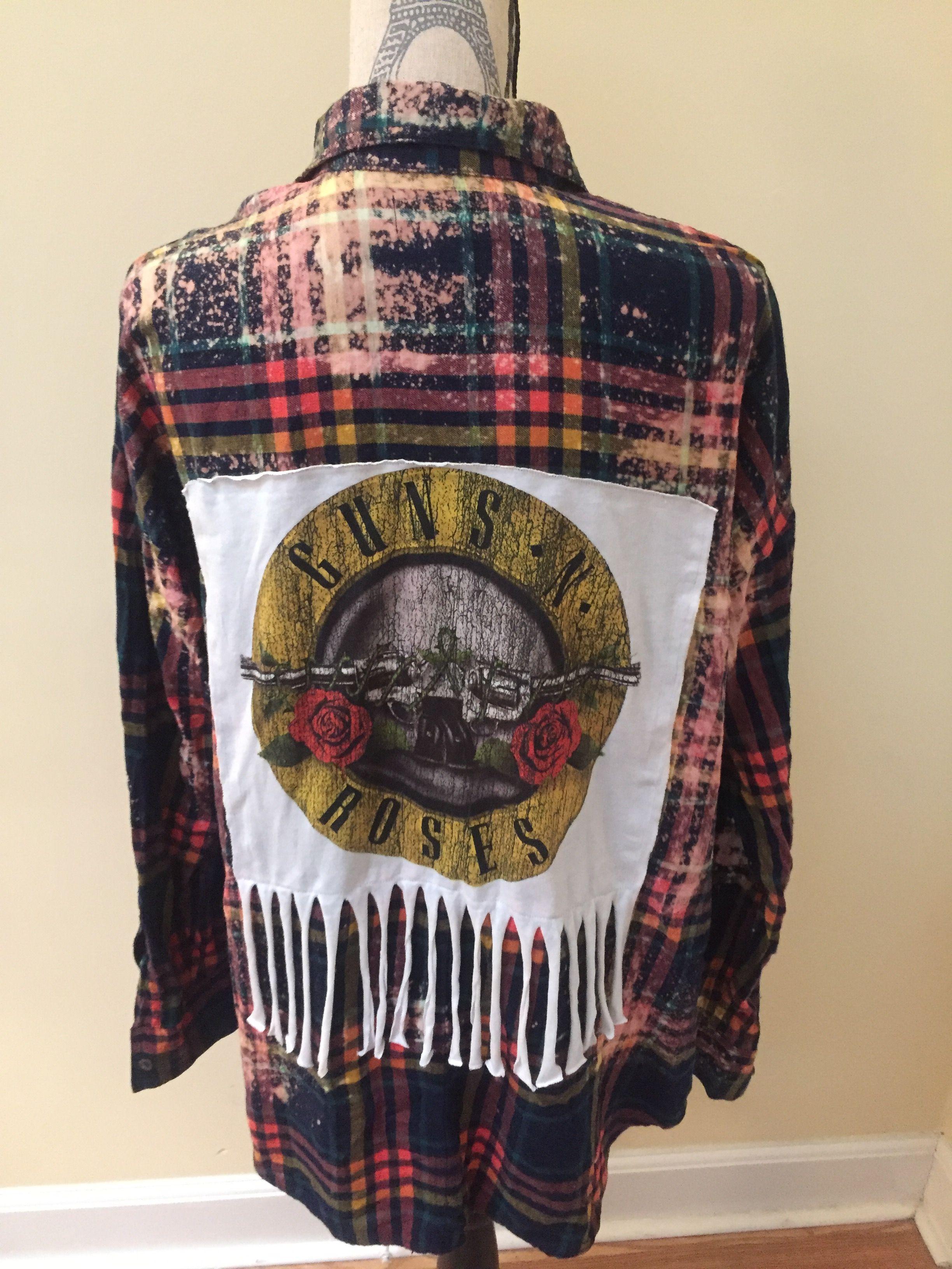 Guns n Roses Custom Flannel