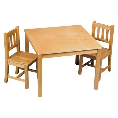Guidecraft New Mission Table And Chair - Honey Oak