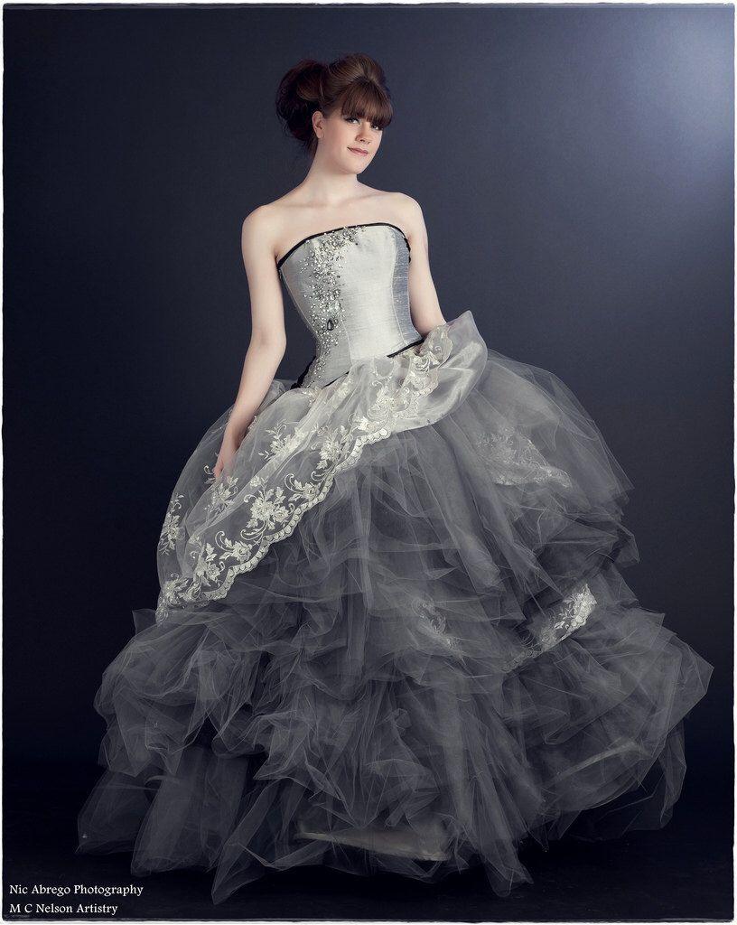 Cinderella wedding dress disney gown fairytale silver