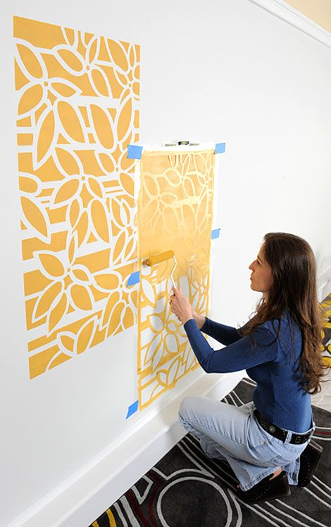 Roller stenciling tips: How to stencil with a roller | Couple things ...