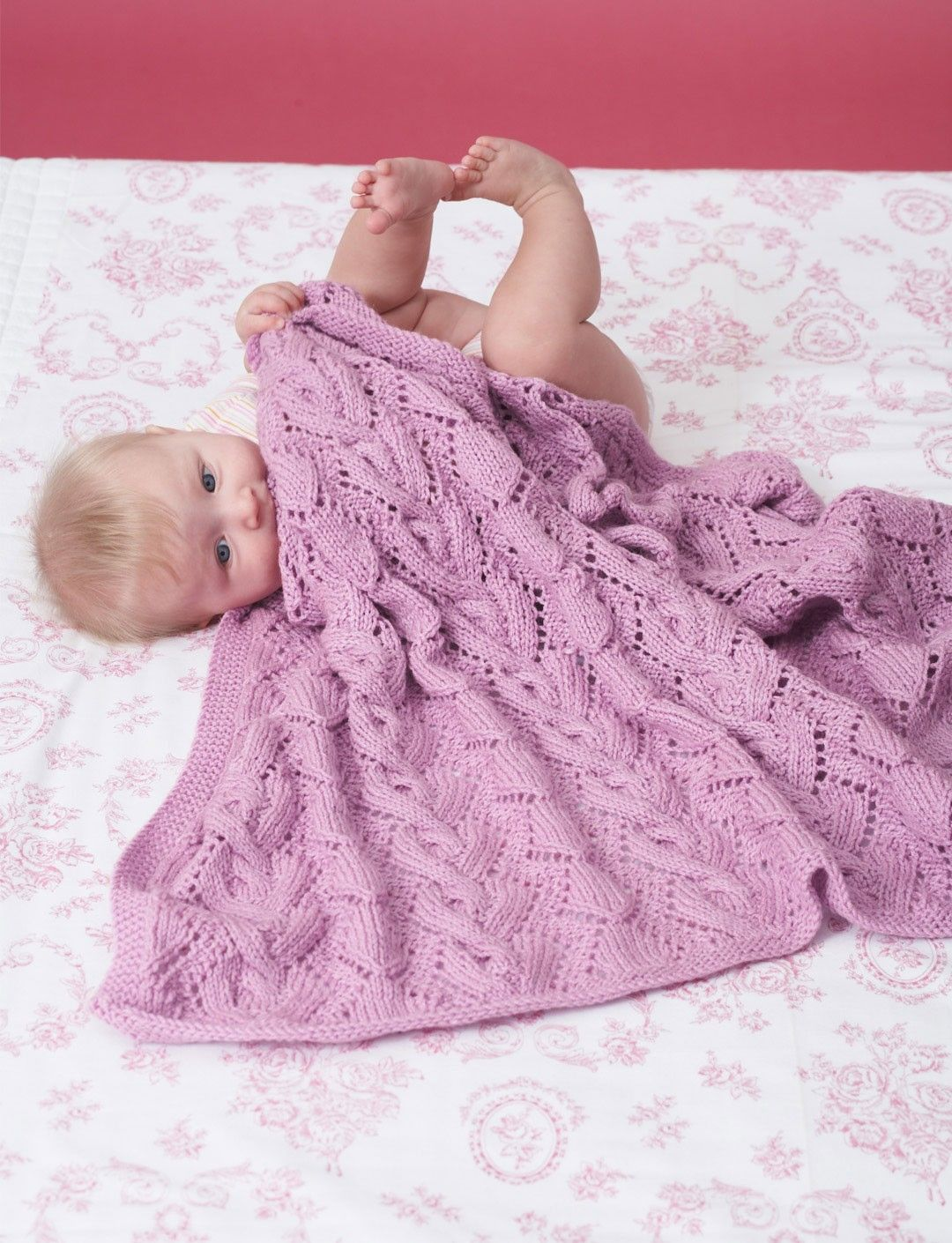 Cable and Lace Blanket | Blankets/Throws | Pinterest | Blanket ...