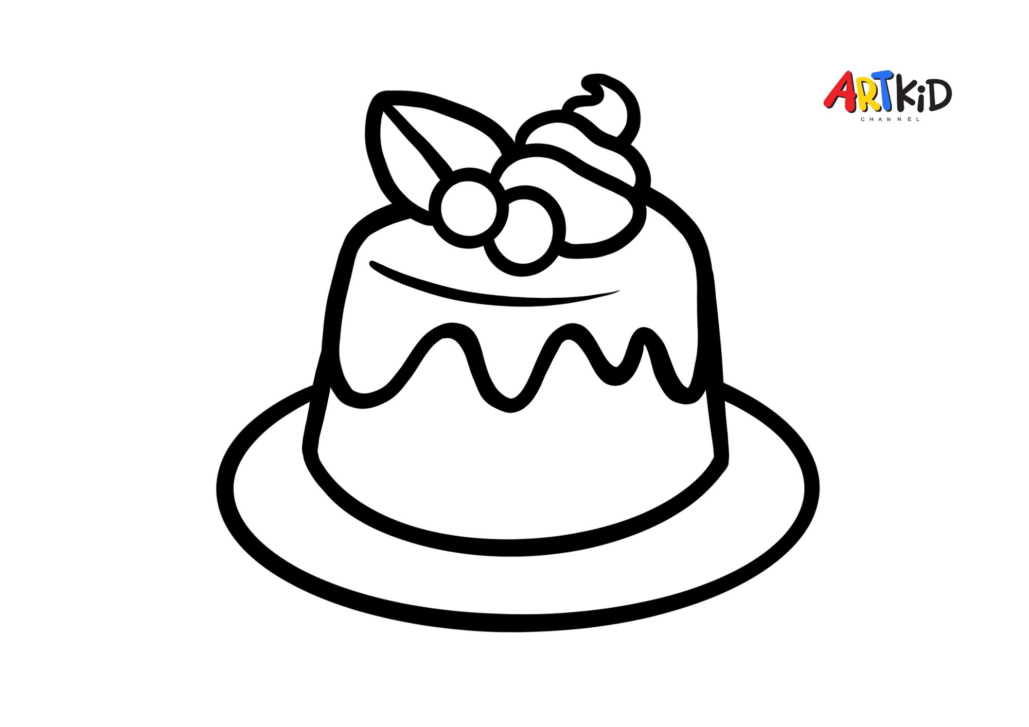 Pudding Free Printable Coloring Pages