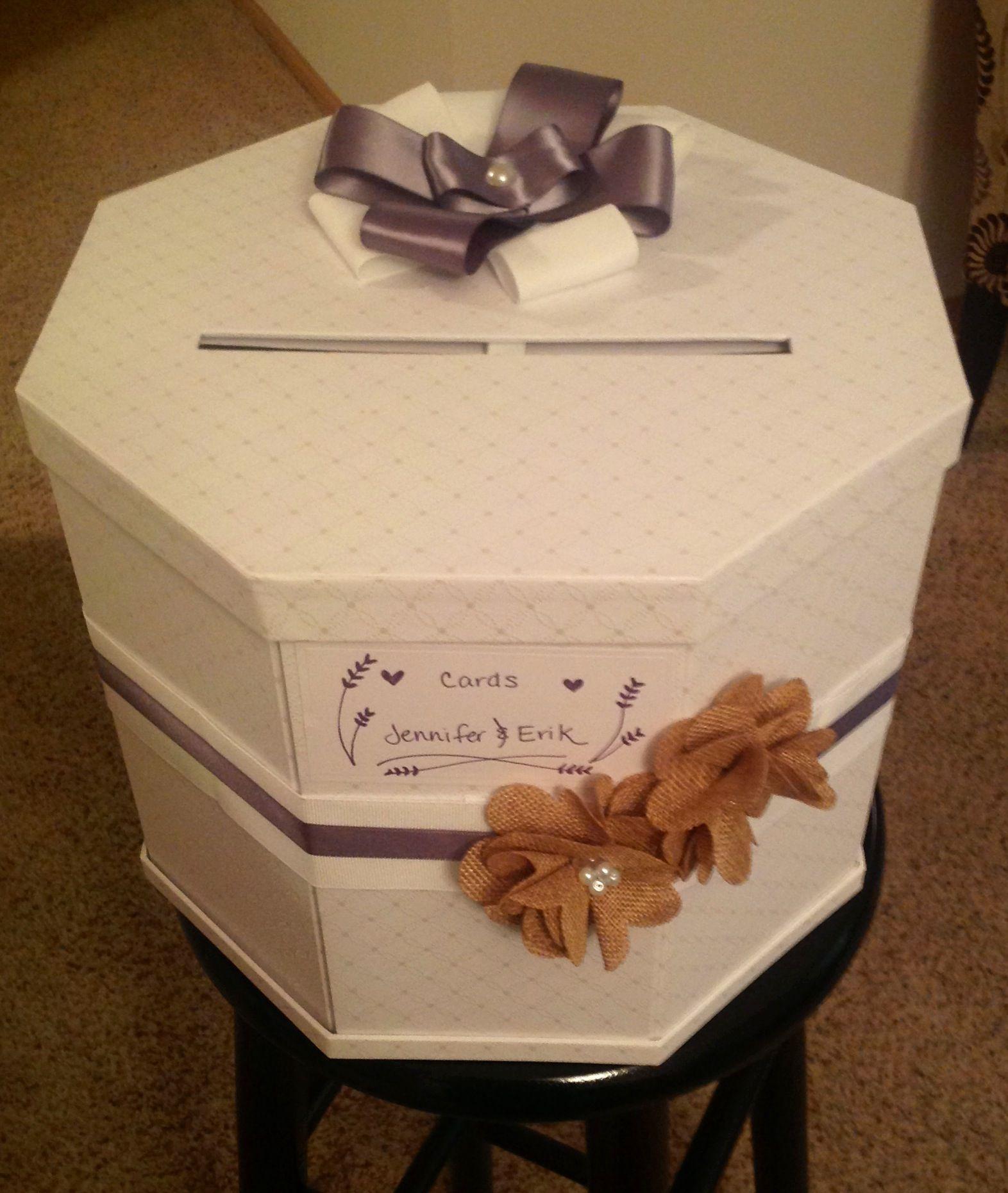 Wedding Card Box Purple Rustic Martha
