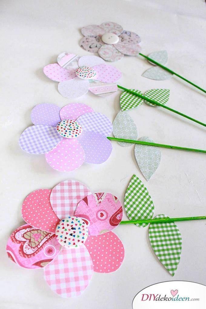DIY Muttertagsgeschenk – Blumen basteln mit Papier – besondere geschenke