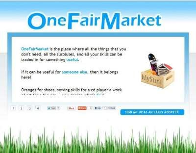 The place where everything you own and don't use can be exchanged for something else: OneFairMarket