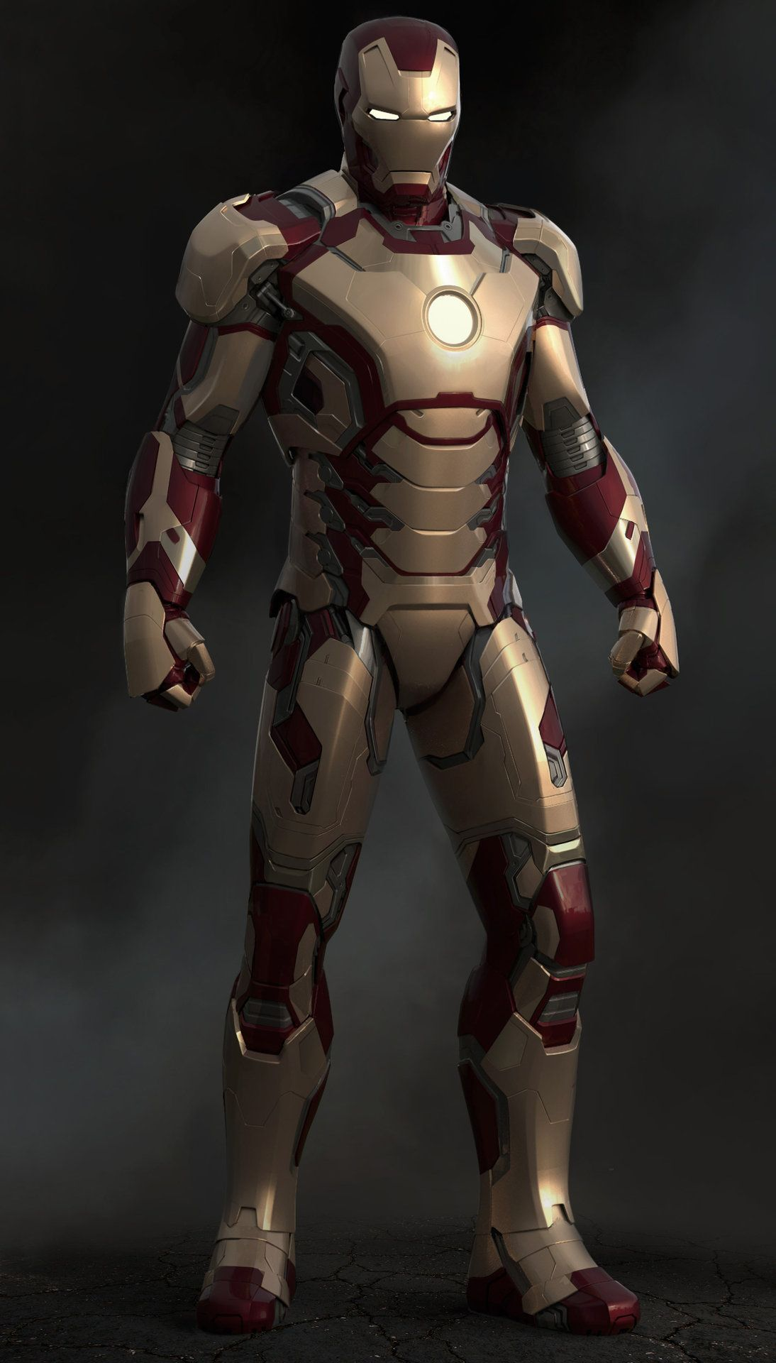 Iron Man 3 - Mark 42 Front by Josh Herman | Iron man, Iron ...