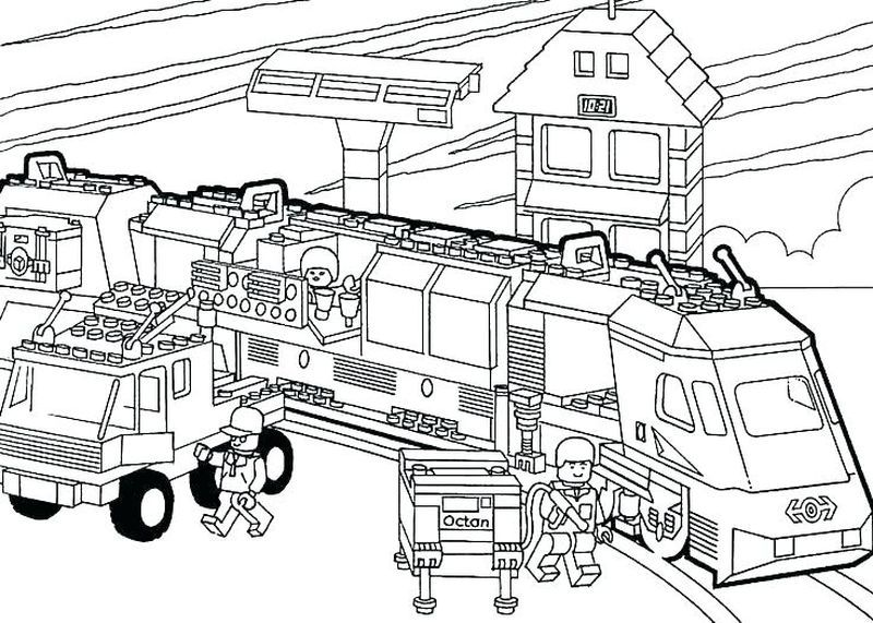 lego train coloring pages. Train coloring page to download