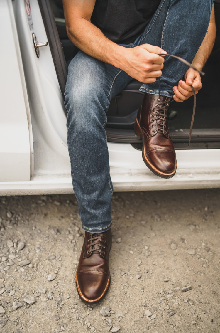 Captain Brown Boots Outfit Men Mens Brown Boots Casual Leather Boots