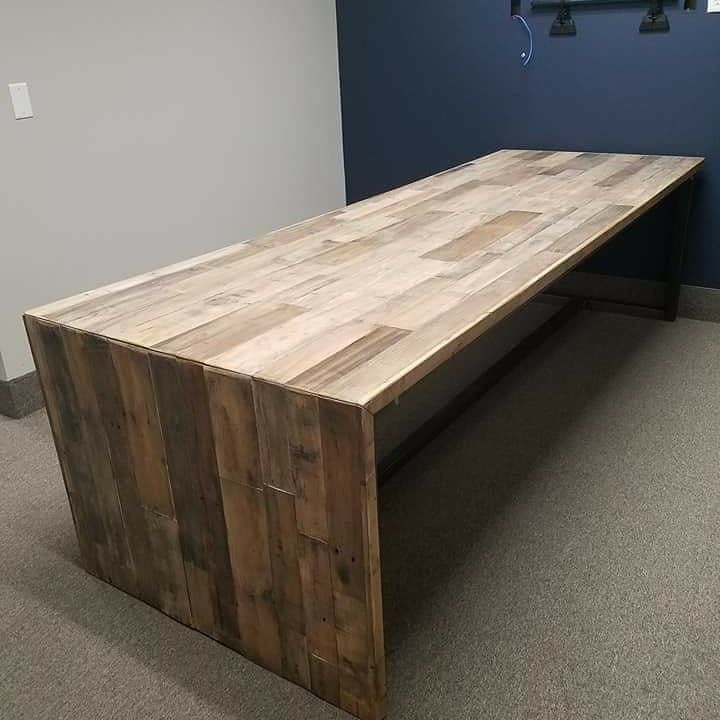 Built And Delivered This Pallet Strip Style Conference Table For A Wonderful Company Called Marshall Industries In Salt Lake City