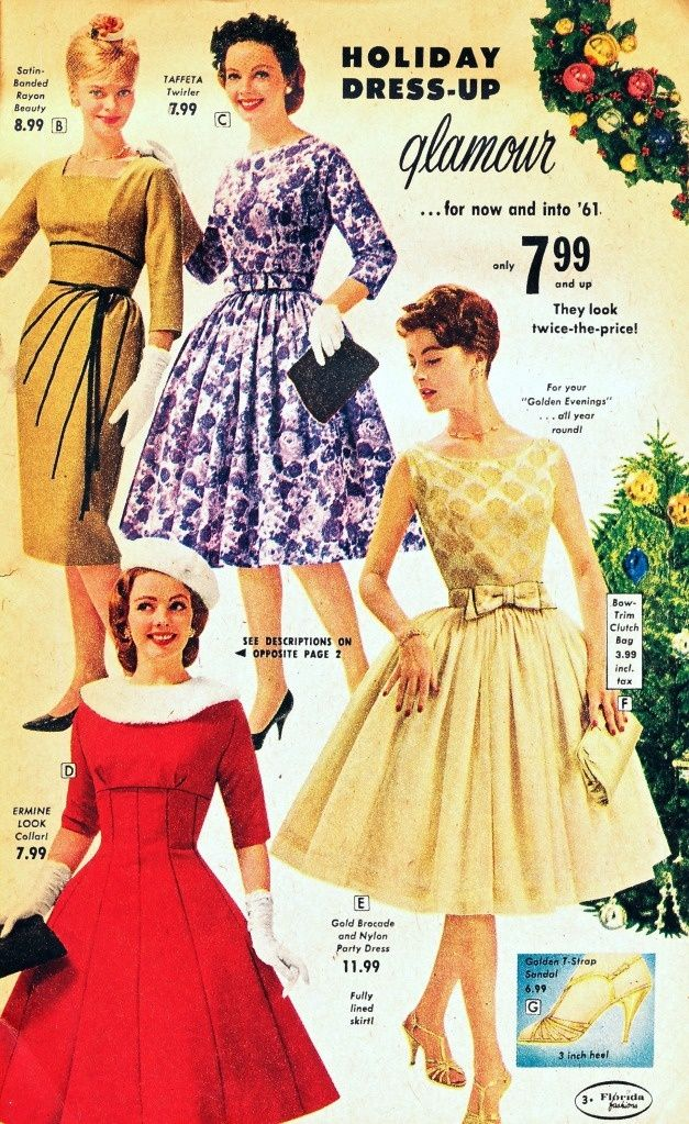 1960s Christmas Party What I Found What To Wear To The Christmas Party 1960 Clot Retro Fashion Florida Fashion 1950s Fashion