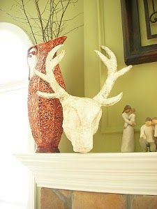 Plaster Faux Deer Head