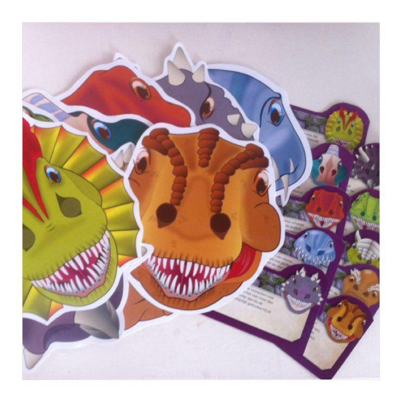 Dino maskers traktatie complete traktaties for Dino traktatie