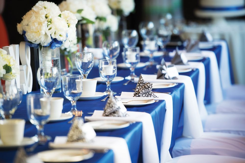 A Lovely Blue Wedding In Ottawa Ontario Wedding Table Indigo