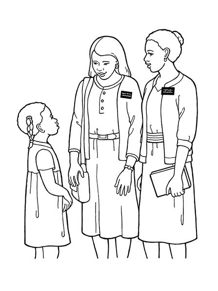 Lds Primary Coloring Pages Missionaries
