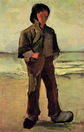 Fisherman on the Beach - Vincent van Gogh   VINCENT VAN GOGH   Pinterest