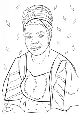 National Women S History Month Coloring Pages Maya Angelou Super Coloring Coloring Pages Coloring Books Coloring Sheets