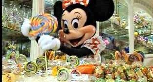 Minnie at Disneyland's Candy Palace. Main Street U.S.A.