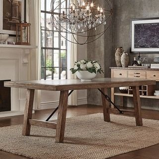 Kosas Home Hamshire Inch Distressed Reclaimed Wood Dining Table - 60 inch reclaimed wood dining table