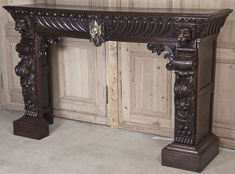 stunning louis xii fireplace mantel surround antique fireplace mantels inessa stewart 39 s. Black Bedroom Furniture Sets. Home Design Ideas