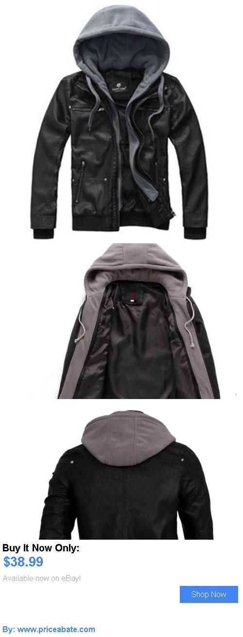 Men Coats And Jackets: Mens Genuine Leather Jacket Warm Black Fit ...