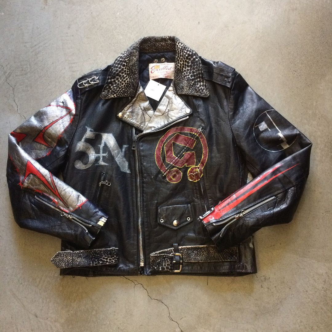 Custom Excelled Nin Leather Jacket 450 25 Shipping Domestic Sold As Is Dm For Inquiries Size L Xl 26 5 Long X 23 Leather Jacket Jackets Vintage Jacket [ 1080 x 1080 Pixel ]