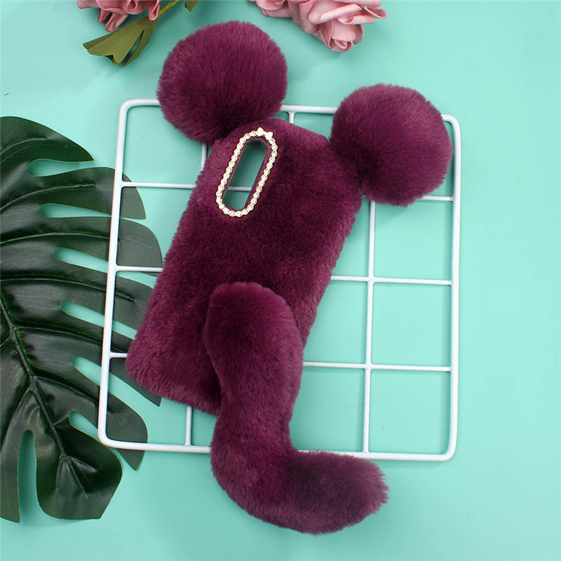 Warm Hairy Lovely Mouse Phone Case For Huawei P30 Pro Lite Soft Plush Phone Cover Fundas Coque Etui Shell In Fitted Cases From Cellphones Telecommunications In 2020 Soft Plush Phone Cover