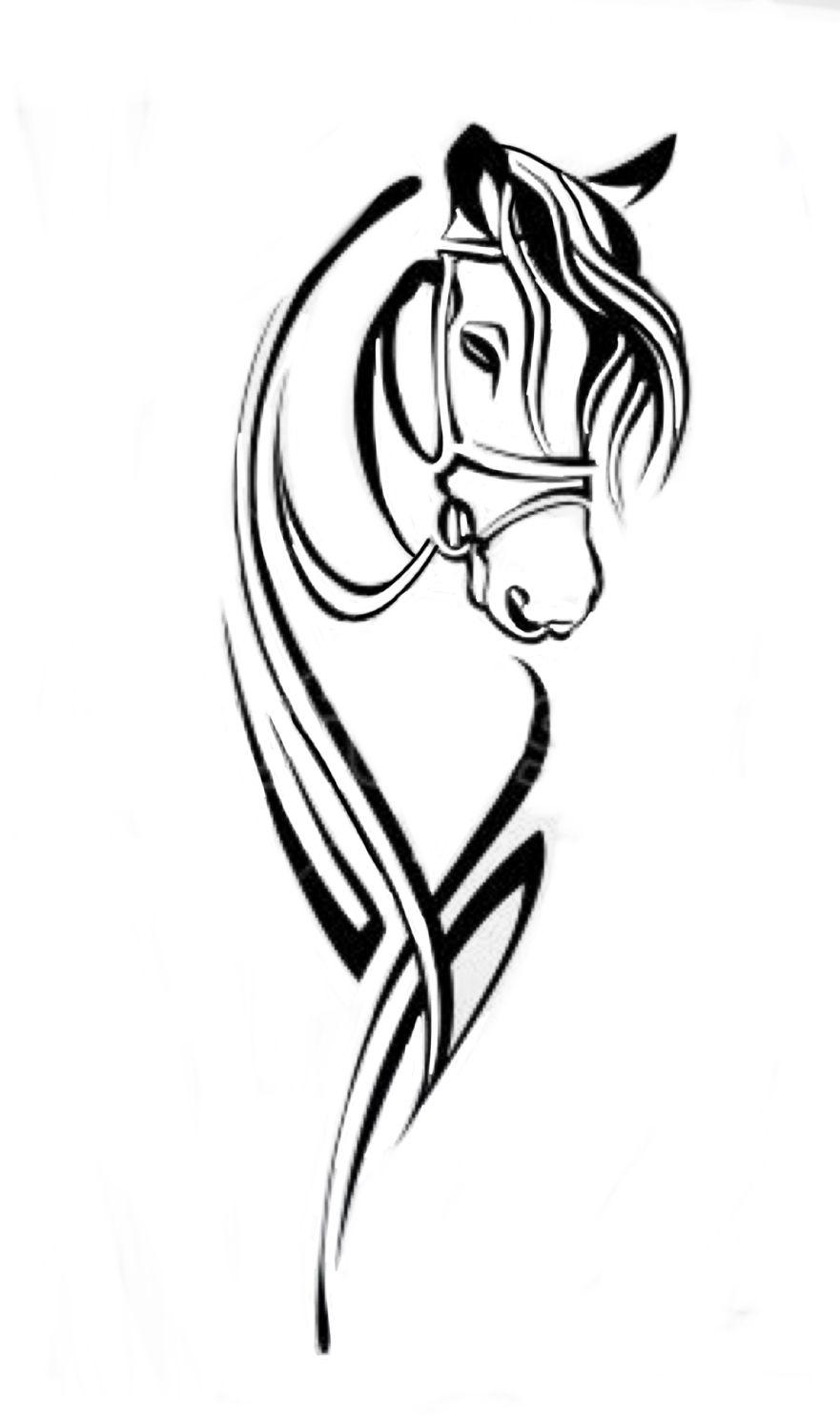 Pin By Ania Sloniowska On Silhouette Horse Tattoo Design Horse Art Print Horse Tattoo