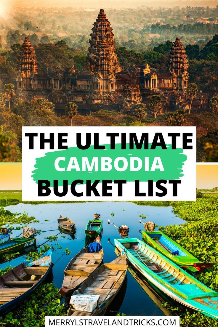 Traveling Cambodia soon? Here is the ultimate Cambodia Bucketlist for those planning to visit the country. From Siem Reap to Phnom Penh and all the lesser known hidden gems, this guide will inspire you to really explore the Cambodian Country. Angkor Wat Cambodia | Siem Reap Cambodia | Phnom Penh Cambodia | Traveling Cambodia
