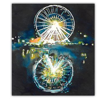 The Ferris Wheel Outdoor Wall Art PEACOCK ROOM Pinterest