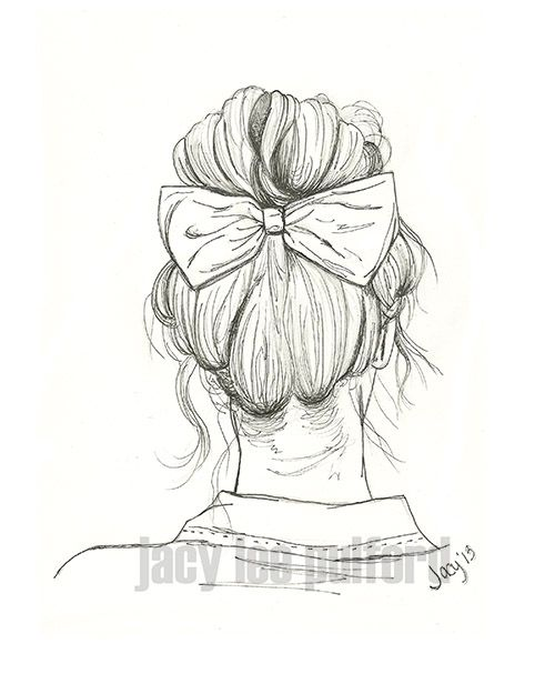 Fille De Dos Cheveux Art Drawing Painting Pinterest Art