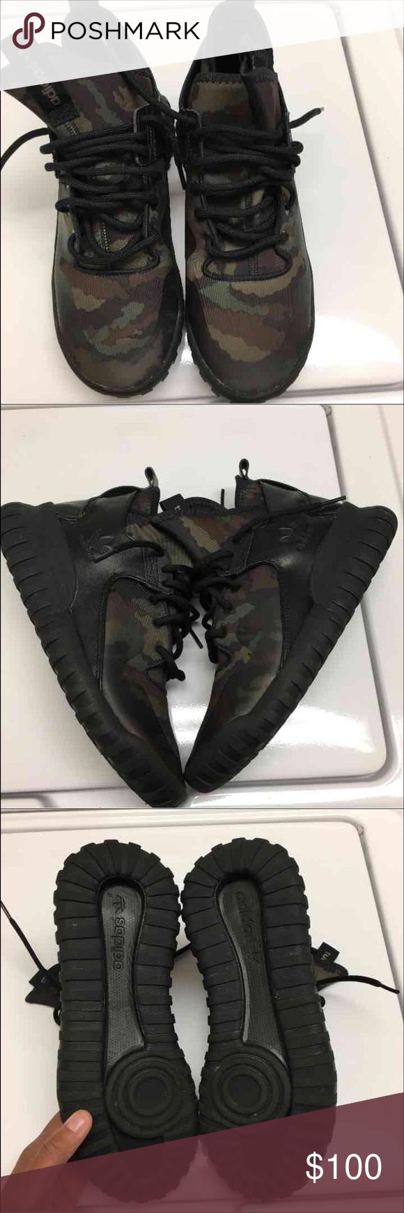 ⏳MENS adidas tubular sneakers RarE Army