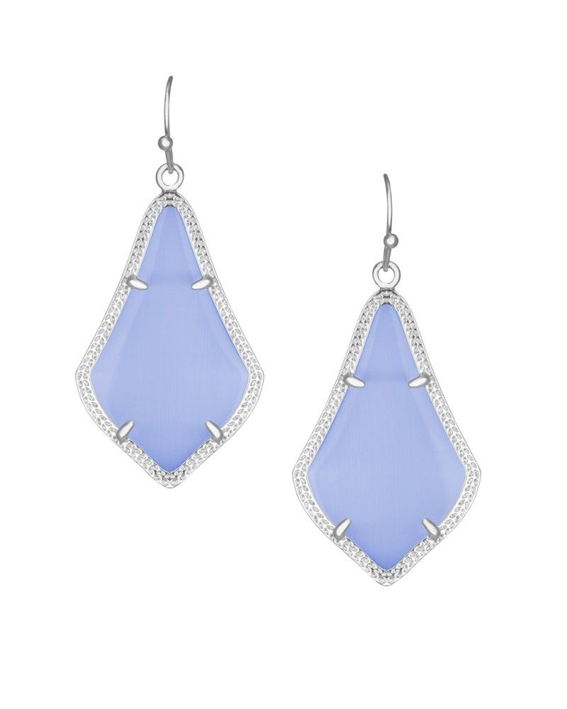 4ee196634 Alex Silver Earrings in Periwinkle Cat's Eye - Kendra Scott Jewelry ...