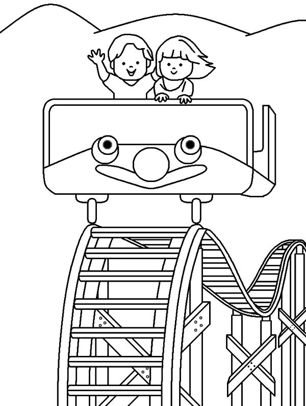 Roller Coaster Carnival Coloring Pages Best Place To Color Roller Coaster Drawing Coloring Pages Cars Coloring Pages
