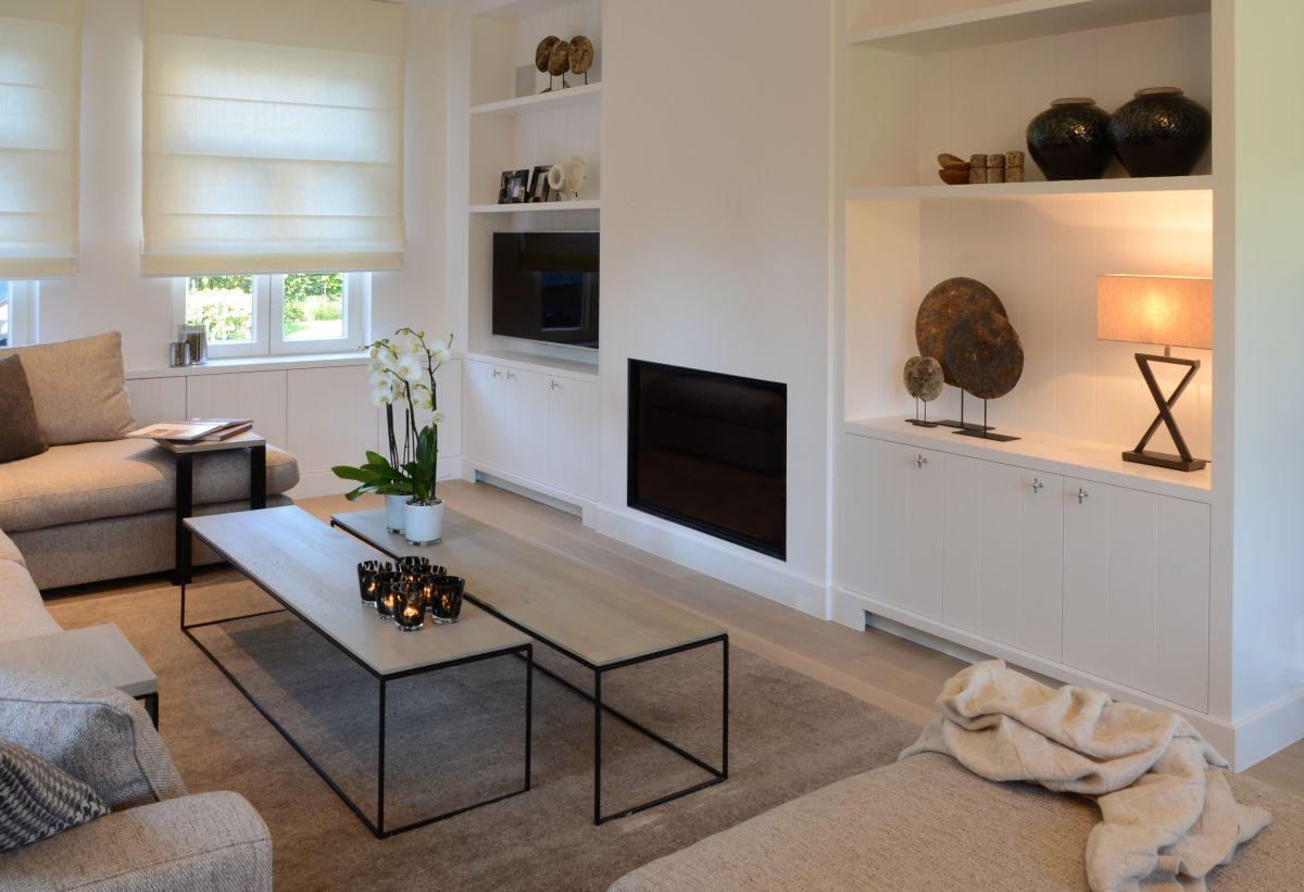 woonkamer tv kast met open haard en tv kast - interieur | Pinterest ...