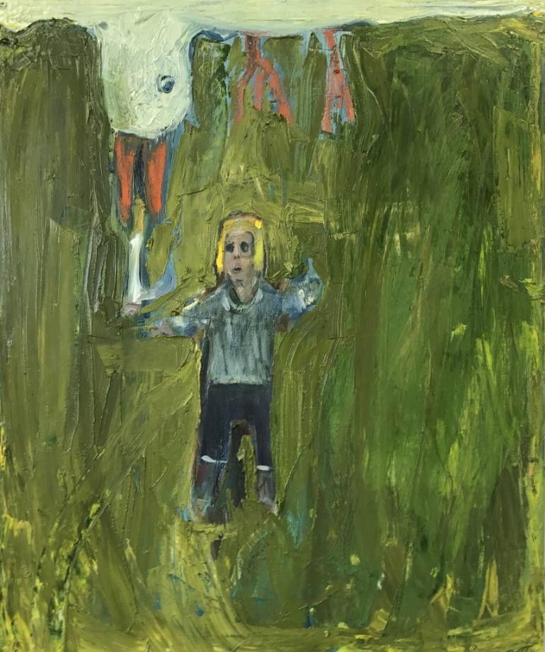 """Saatchi Art Artist Georg Óskar; Painting, """"The bully seagull"""" #art"""