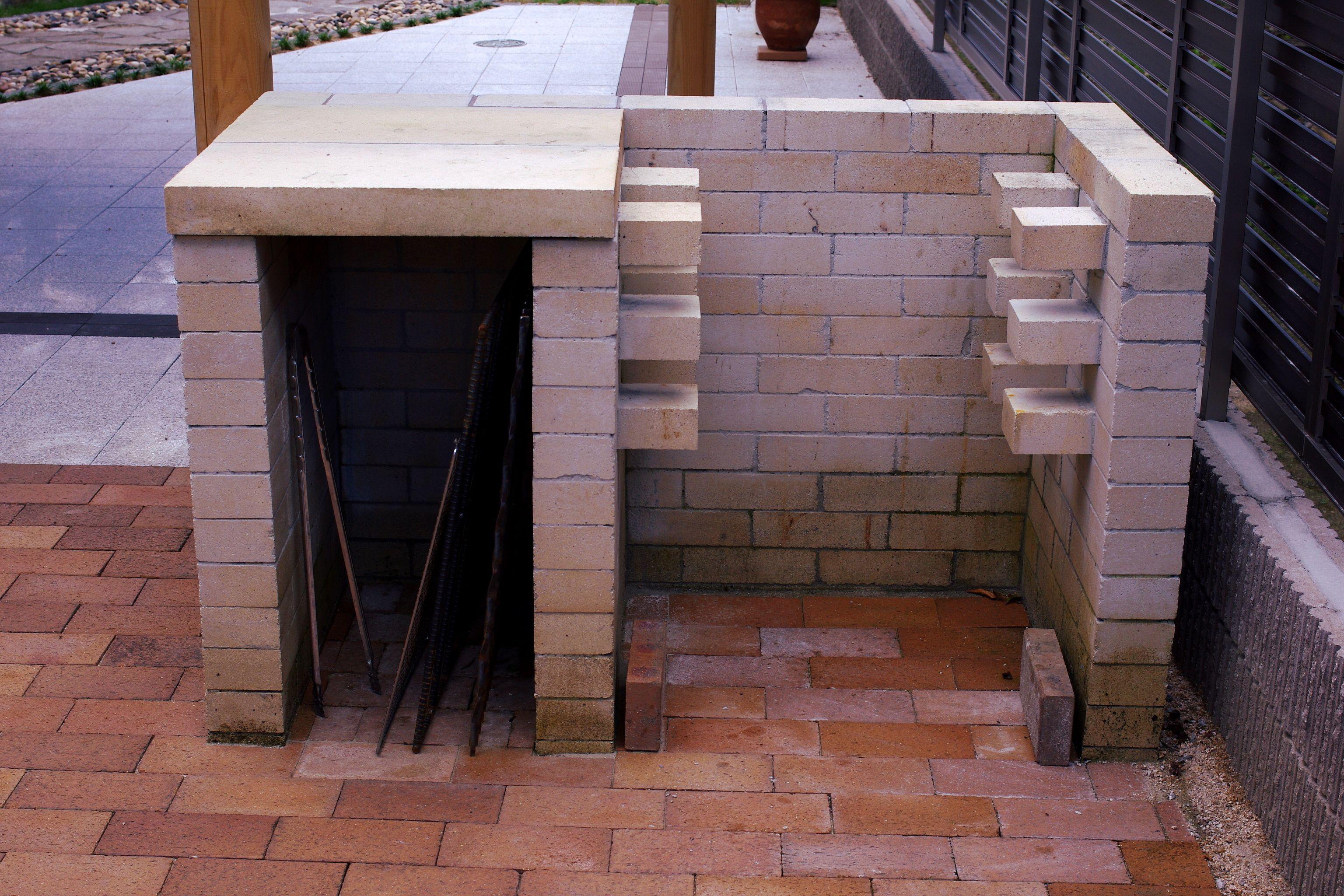 耐火レンガで造ったバーベキューコンロで集えるお庭 ガーデン工房
