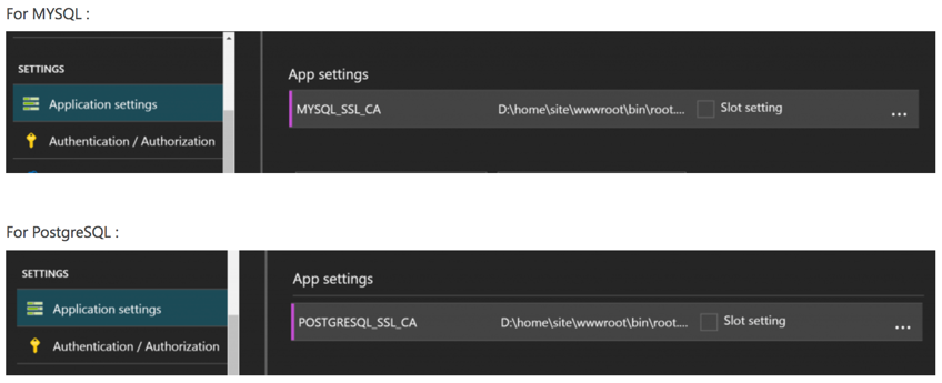 Connect Azure App Service to Azure database for MySQL and
