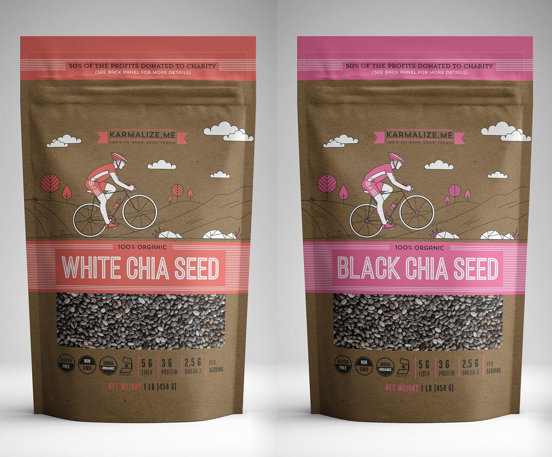 Chia Seed Packaging Packaging Labels Design Seed Packaging