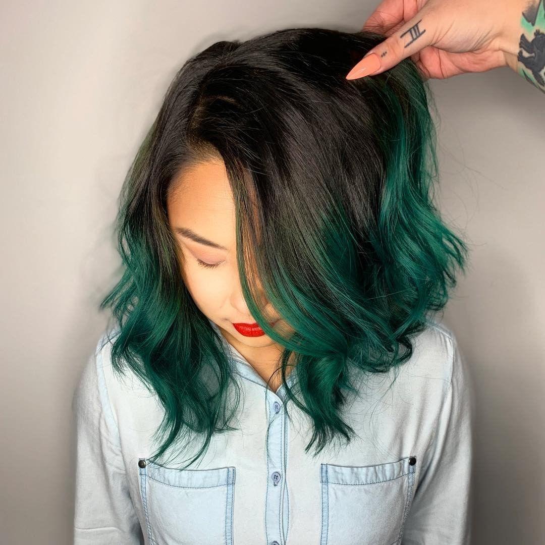 5 Steps To Perfect Hair Dip Dye Hair Dipped Hair Dark Green Hair